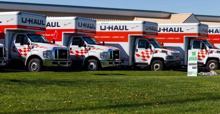 U-Haul rental trucks