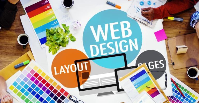 Website design collage