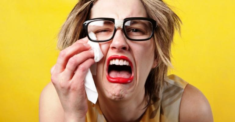 Crying Sobbing Woman