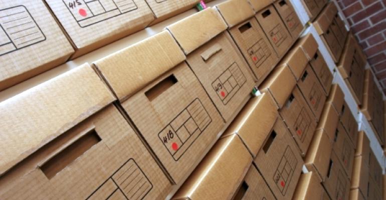 Records storage file boxes