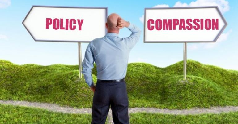 Choice Between Policy and Compassion