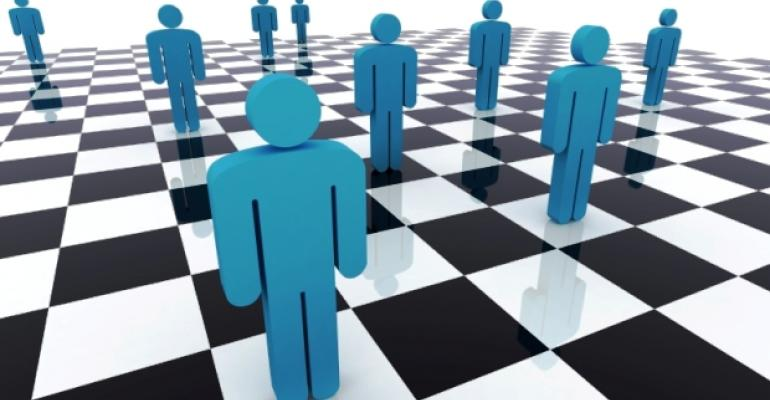 People on Chessboard