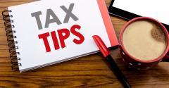 Tax tips desktop coffee